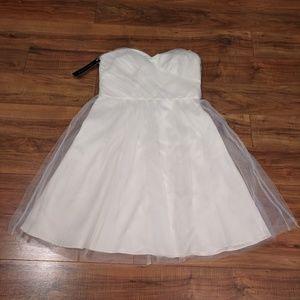 [2] NWT Ann Taylor Silk Tulle Ivory Dress